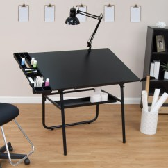 Drafting Table Chairs Dining Room Chair Slip Covers Bed Bath And Beyond Studio Designs 4 Piece 30 X 42 Ultima Set Base In Black 19645