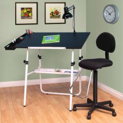 Drafting Table Chairs Car Chair Covers Amazon Studio Designs 4 Piece 30 X 42 Ultima Set Base In White