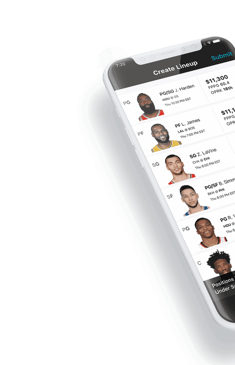 DraftKings App on Iphone