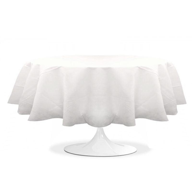 nappe ronde blanche 240 cm pas cher