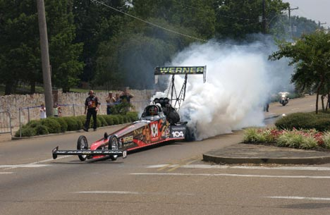 Image result for Clay Millican, Elvis-themed Dragster.