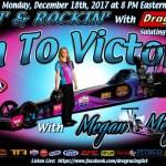 Racin' & Rockin' Radio: Megan Meyer on December 18th!