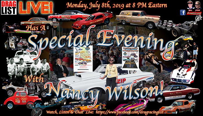DragList LIVE: Nancy Wilson and Jim Walther on July 8th! - Drag List