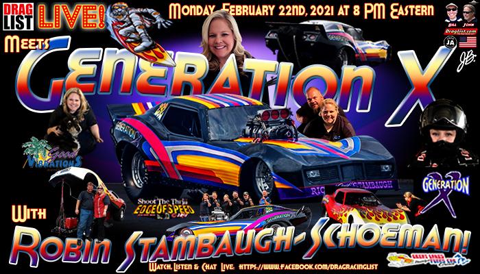 Draglist LIVE: Robin Stambaugh-Schoeman on 2/22/21!