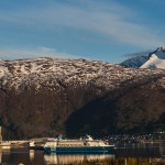 Port of Narvik - cruise ship leaving