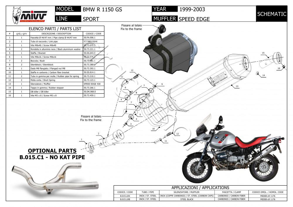 BMW R 1150 GS 2002 02 MIVV Pot Echappement Speed Edge