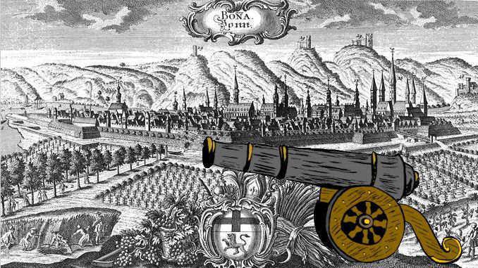 Siebengebirge historia, temprana edad moderna, Bonn alrededor de 1700