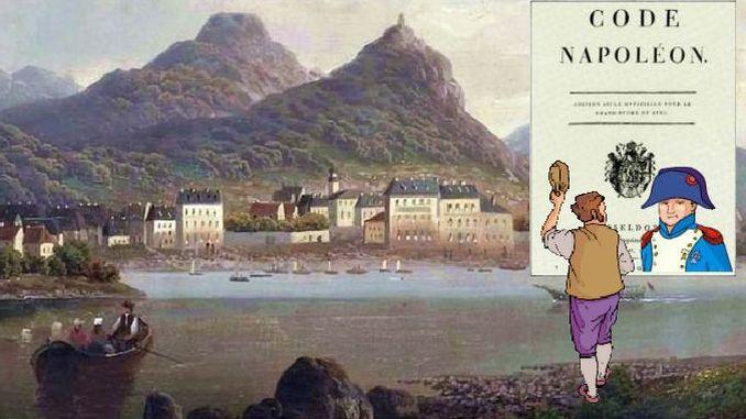 Siebengebirge historia, era Napoleónica