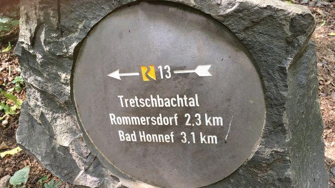 Indicador en el Siebengebirge, Valle del Rin