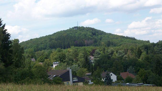 Ölberg, vista de Ittenbach, Siebengebirge, Königswinter