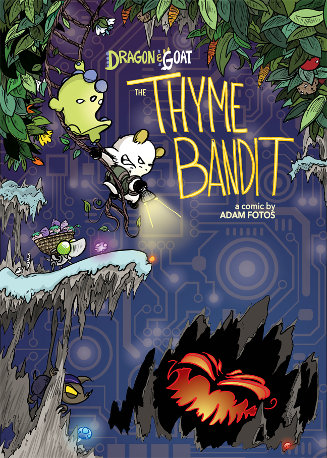 The Cover for the Thyme Bandit, the 9th Dragon and Goat Book Revealed!