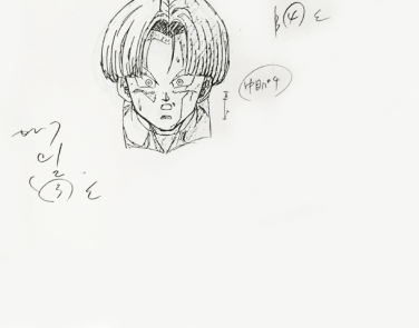 Trunks - douga key animation tête 2