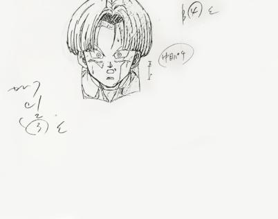 Trunks - douga key animation tête 2