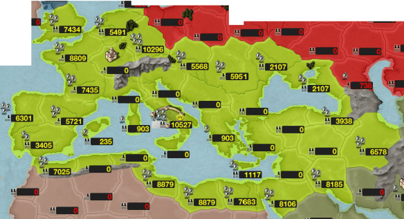 roman empire map in an iphone game