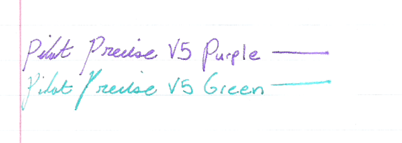 Pilot precise green and purple
