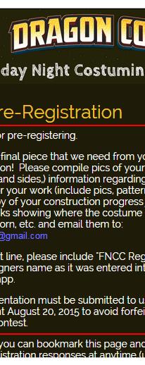 FNCC Confirmation Screen Grab