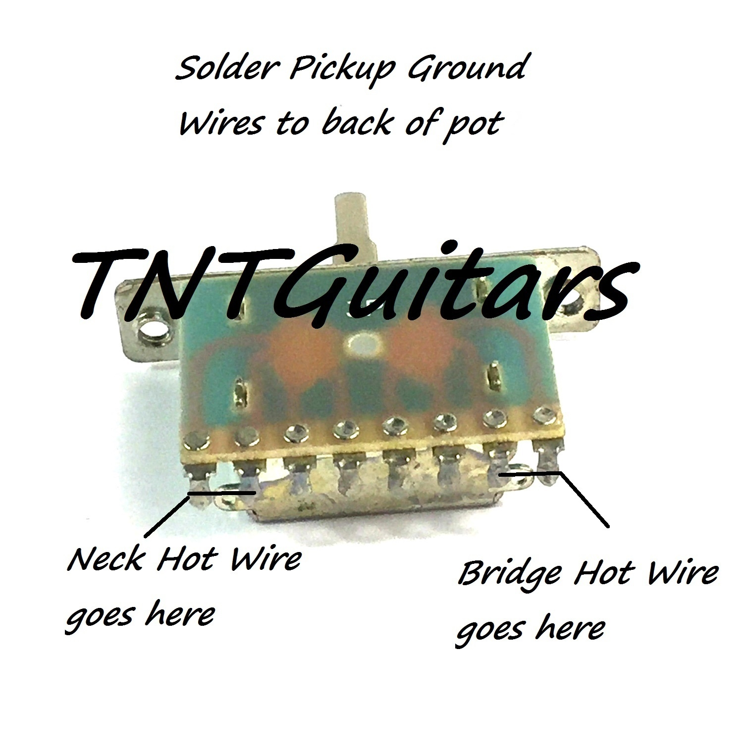 hight resolution of 1v1t prewired harness 2 pickup push pull coil cut with 3 way blade switch