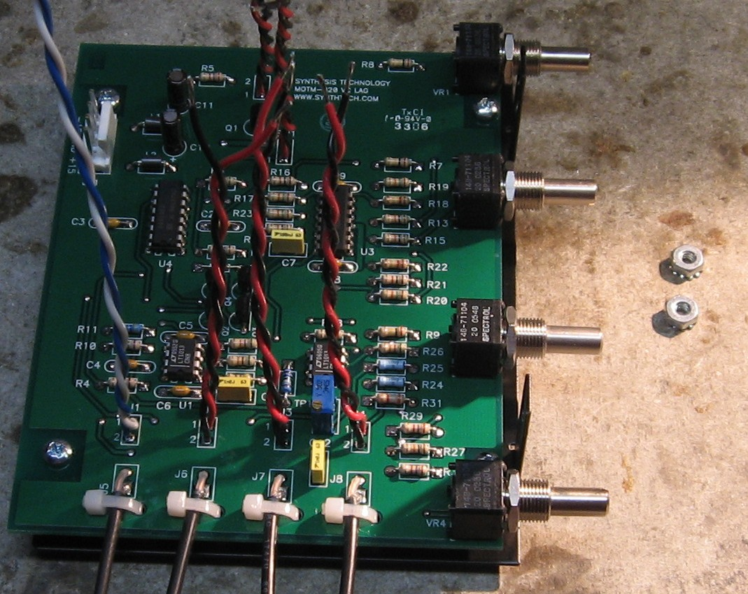 Switch Craft Jacks To The Pcb Wires From The Jacks Are Soldered Onto