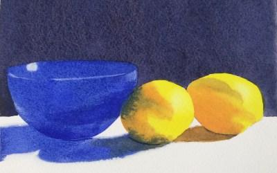 Blue Bowl and Lemons