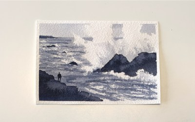 Postcard Paint-Along: Crashing Surf