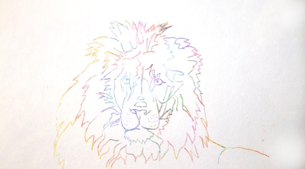 Line Drawing Of Lion : Multi lion dragonfly spirit studio