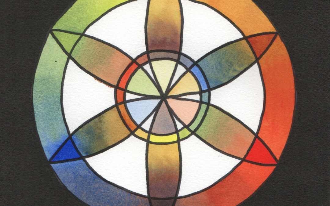 Rainbow Rose Window project completed.