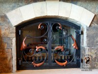 Acanthus Hand Forged Metal Fireplace Doors | Dragon Forge ...