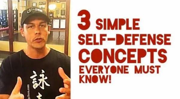 3 Simple Self-Defense Concepts