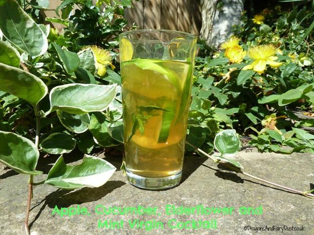 Apple cucumber elderflower and mint cocktails