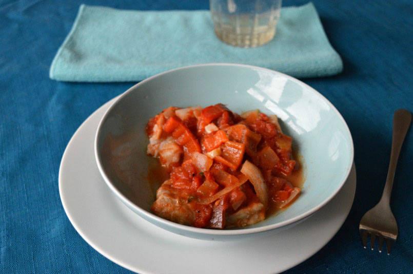 Italian tomato baked cod
