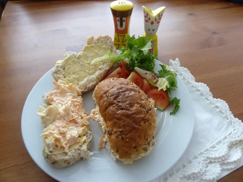 Cheese savoury sandwiches
