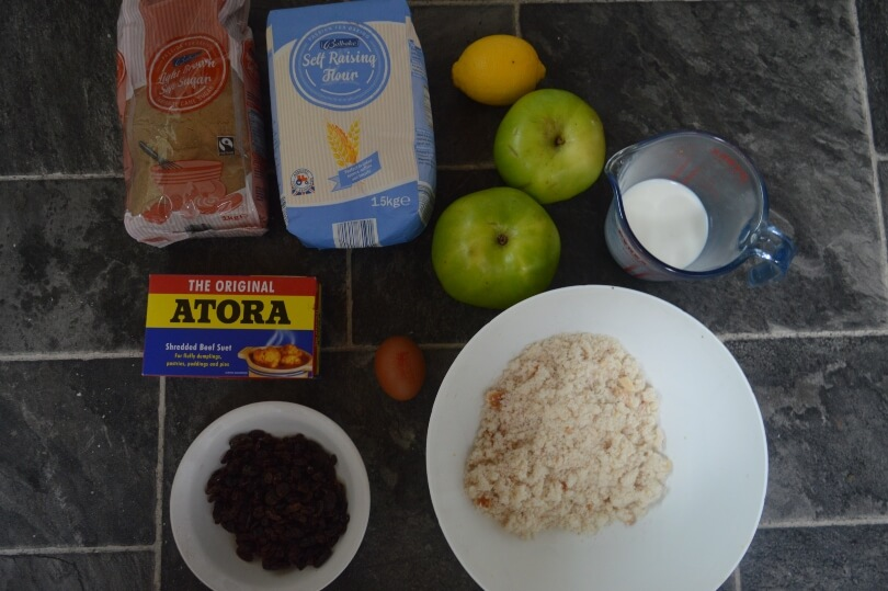 Ingredients needed for St Stephen's Pudding