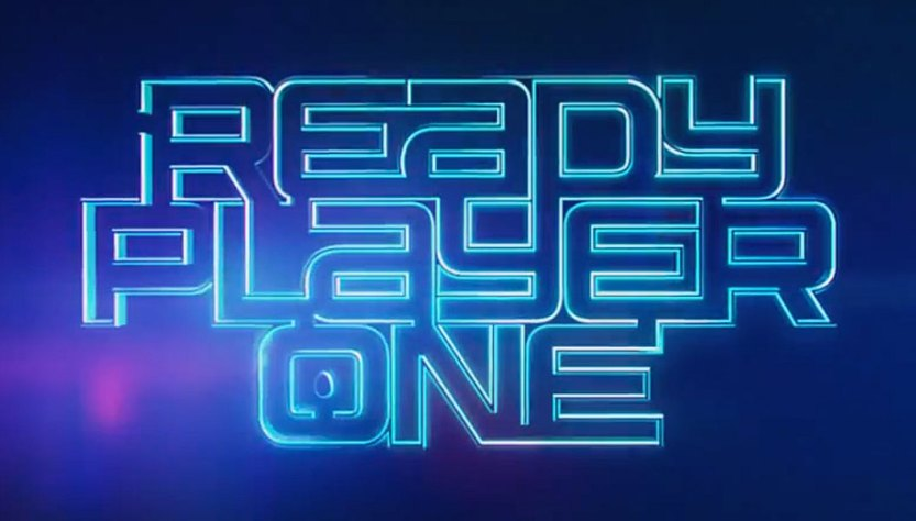 image of ready player one in neon letters