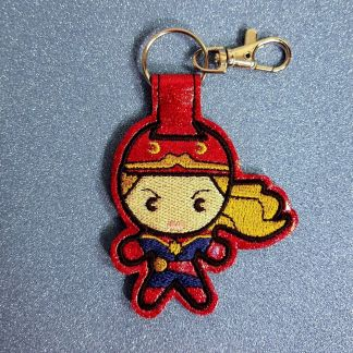 Captain Lady Fob Red Sparkle Vinyl