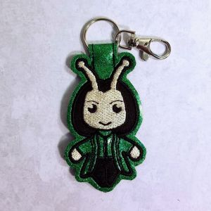 Bug Lady Fob Green Sparkle Vinyl