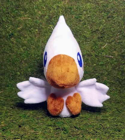Chocobo-Snow-with-Rust-beak-and-feet-open-wing-front