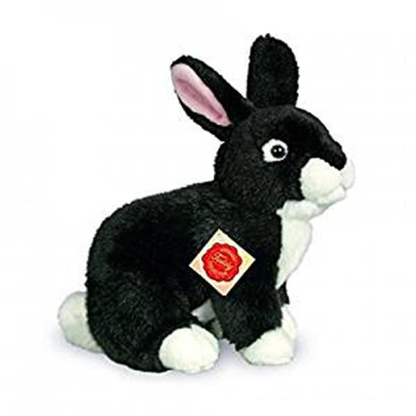 Teddy Hermann Black Rabbit Sitting 25cm Soft Toy Dragon