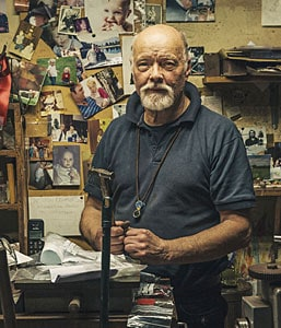 Photo of Harold in the workshop