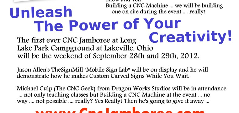 2012 CNC Jamboree Poster