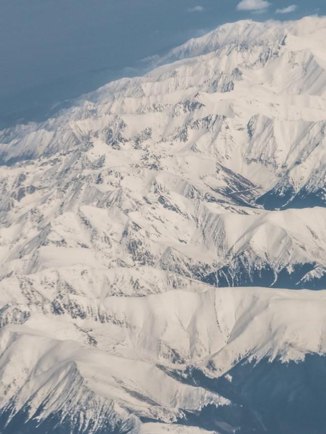 Carpații Meridionali fotografiați din avion la final de iarnă 7