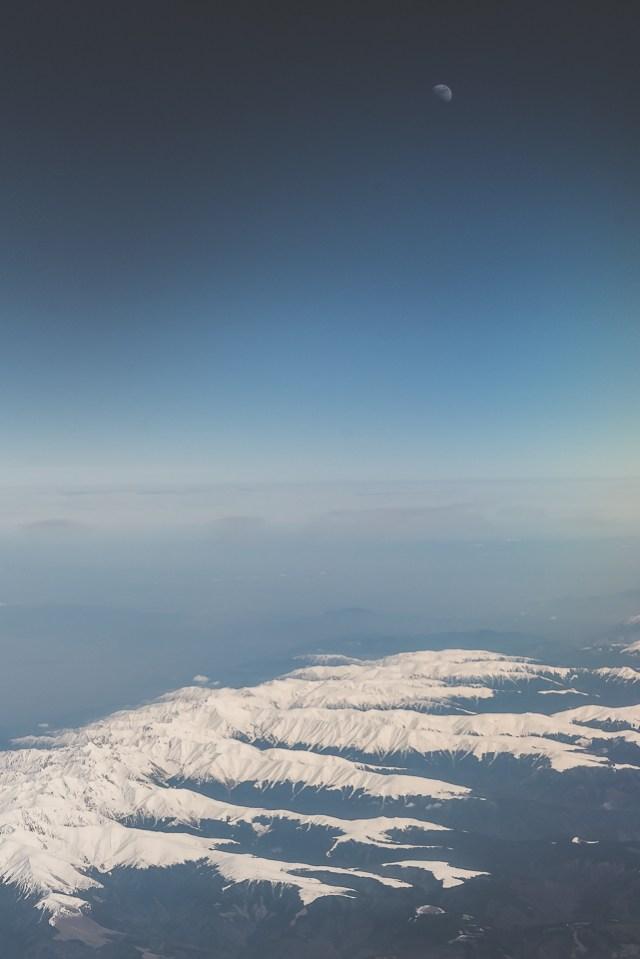 Carpații Meridionali fotografiați din avion la final de iarnă 8