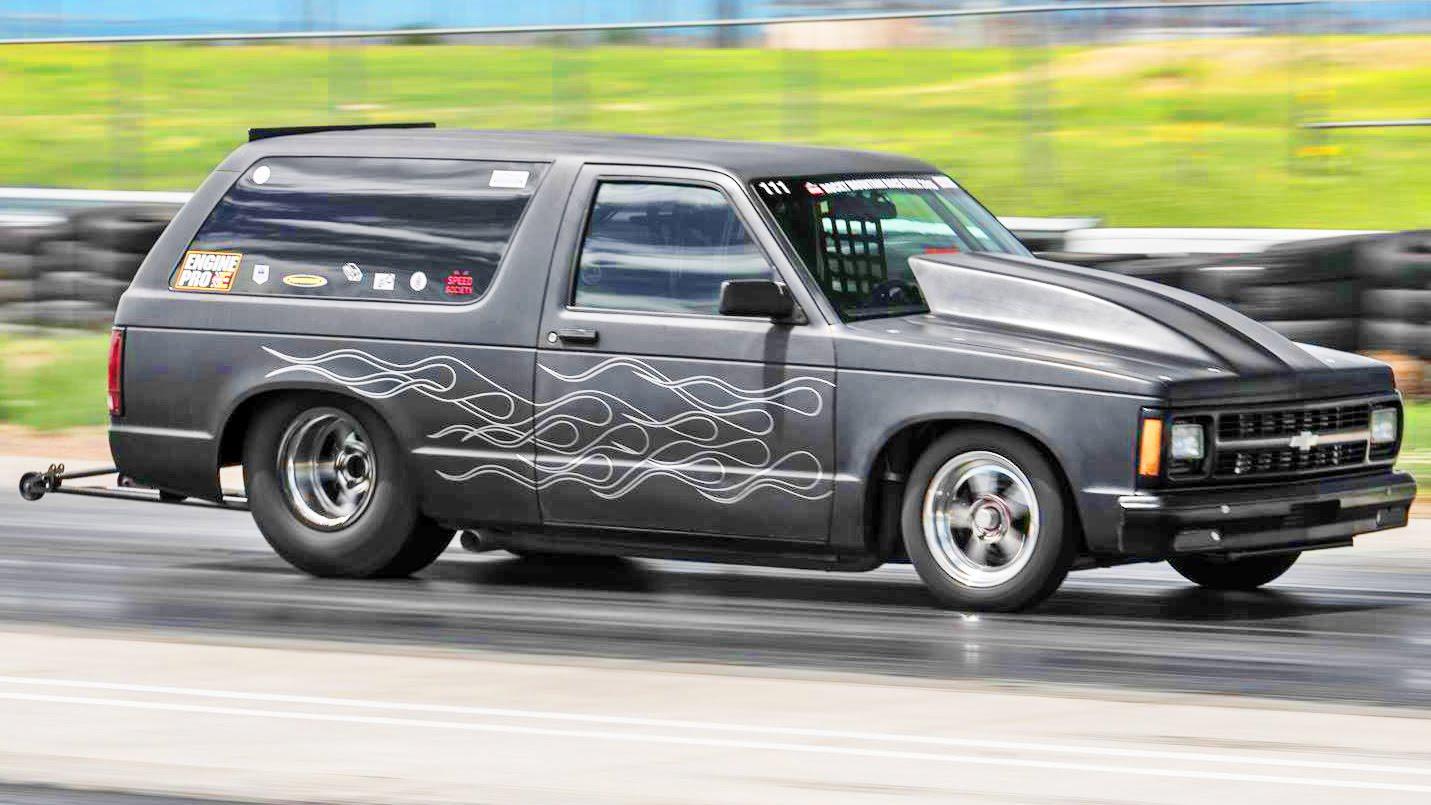 hight resolution of twin turbo s10 blazer runs 8 40 160 mph