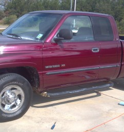 maroon 2001 dodge ram 1500 quad cab short bed 318 [ 1280 x 720 Pixel ]