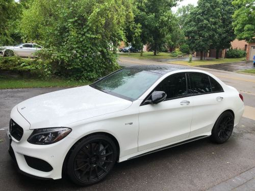 small resolution of white 2017 mercedes benz c43