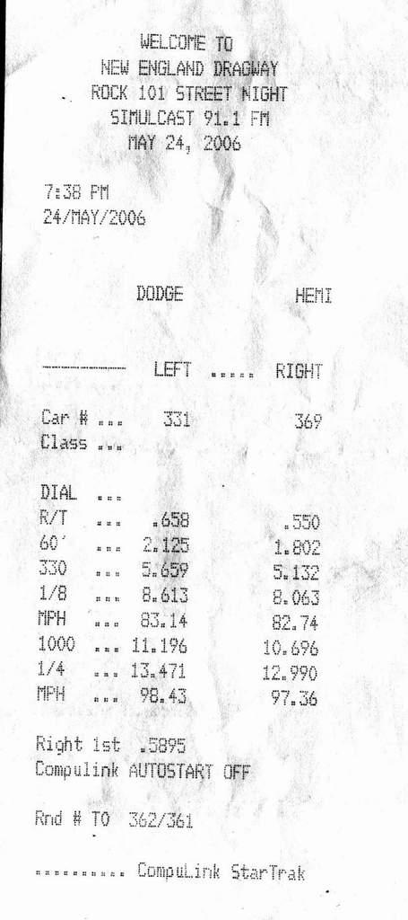 1997 Suzuki Marauder VZ800 1/4 mile trap speeds 0-60