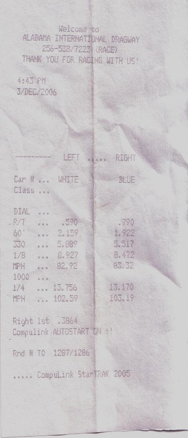 2004 Nissan 350Z Coupe 1/4 mile trap speeds 0-60