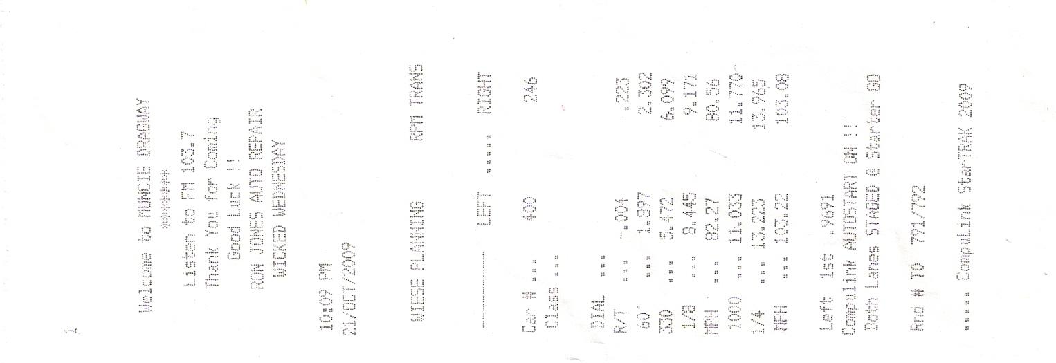 1998 Ford ZX2 Escort Sport 1/4 mile trap speeds 0-60