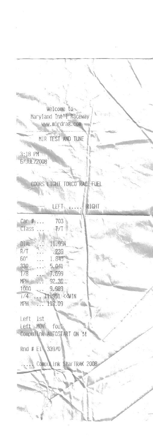2005 Chrysler Crossfire SRT6 1/4 mile Drag Racing timeslip