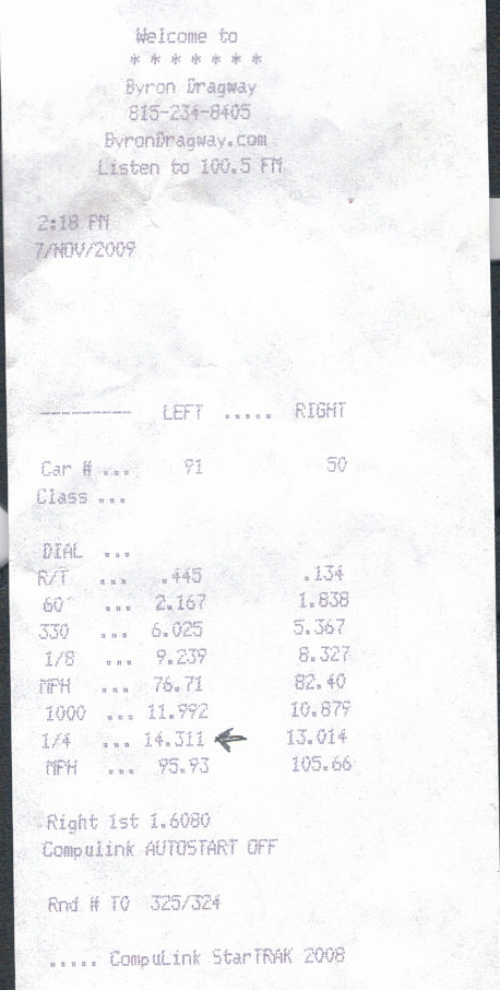 1999 Pontiac Bonneville SSEi 1/4 mile trap speeds 0-60