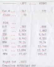 2005 Subaru Forester XT 1/4 mile trap speeds 0-60